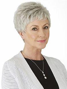 Grey Hair Wig, Short Grey Hair, Haircut For Older Women, Short Hair Cuts For Women, Pixie Cut Grau, Short Human Hair Wigs, Short Pixie Haircuts, Wig Hairstyles, Hairstyles 2018