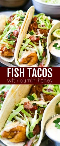 This Easy Fish Taco recipe is flavorful, quick and perfect for a crowd! This is one recipe that will be begged to be made! #fish #tacos #easy