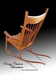 Rocking chair. Handmade of black cherry with black walnut dowels. This ...