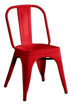 Home decorators version of Tolix Chair Red Dining Chairs, Leather Dining Room Chairs, Metal Chairs, Dining Room Furniture, Side Chairs, Home Furniture, Desk Chairs, Furniture Logo, Kitchen Chairs