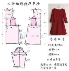 Chart may váy xòe chi tiết đến từng centimet cho bạn4