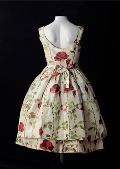 Vintage dress by Balenciaga. Another garden party for Nora Blackbird.