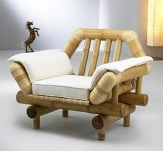 Result for the decoration with bamboo - All About Bamboo Sofa, Bamboo Art, Bamboo Crafts, Bamboo Ideas, Pallet Patio Furniture, Bamboo Furniture, Rattan Furniture, Natural Furniture, Unique Furniture
