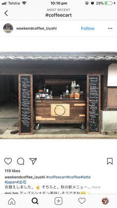 Coffee Shop Bar, Coffee Carts, Coffee Shop Design, Container Coffee Shop, Container Cafe, Cafe Interior Design, Cafe Design, Mobile Coffee Cart, Kitchen Work Tables