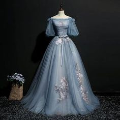 Senior Prom Dresses, Tulle Prom Dress, Prom Dresses Blue, Pretty Dresses, Tulle Lace, Wedding Dresses, Prom Dresses With Sleeves, Gown Dress, Bridesmaid Dress