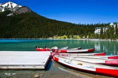 Lake Louise, Alberta, Canada Alberta Canada, Calgary, Boat, Spaces, Landscape, Travel, Dinghy, Viajes, Boats