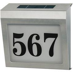 Solarna LED hišna številka BN-HOUSE02