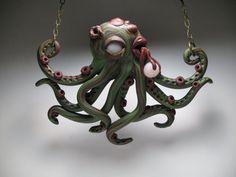 Zombie Octopus collier - Bijoux argile polymère