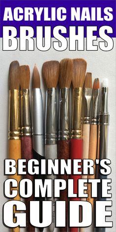 Best Acrylic Nail Brush, Acrylic Dip Nails, Acrylic Nails At Home, Acrylic Tips, Business Nails, Nail Courses, Nail Techniques, Gel Nail Art Designs, Nail Art Brushes