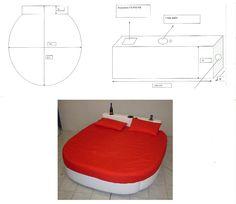 Dal disegno alla realizzazione di un letto ovale dotato di kit audio e refrigeratore per bibite installati nella testiera lineare del letto.
