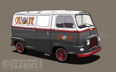Les illustrations de christophe: Article dans Gazoline Renault Estafette