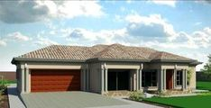 Browse our huge selection of house plans to find the perfect match for you. Get inspired, make your choice and start building your new home today. Open Floor House Plans, Porch House Plans, Farmhouse Floor Plans, 4 Bedroom House Plans, House Plans One Story, New House Plans, Built In Braai, House Plans South Africa, Small Modern House Plans