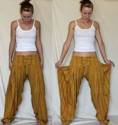 hammer pants / harem pants / yoga / surf / hippie clothes, $48.00