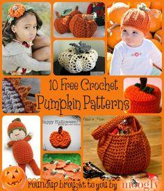 Pumpkin Everything! 10 Free #Crochet #Pumpkin Patterns to make this Fall!