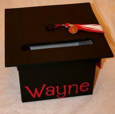 Graduation Mortar Board Card Box. $20.00, via Etsy.