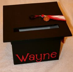 Graduation Mortar Board Card Box. $20.00, via Etsy.