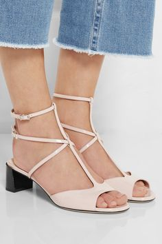Fendi | Patent-leather sandals | NET-A-PORTER.COM