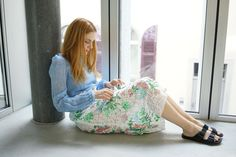 Rock, Bean Bag Chair, Embroidery, Skirts, Fashion, Timeless Fashion, Moda, Needlepoint, Skirt