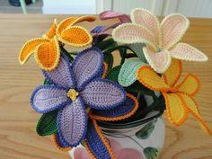 Crochet Flower Pattern by rubeania on Etsy