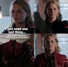 Emma's red leather jacket!!! ♡♡ I got so excited when Emma got her red leather jacket!!!!