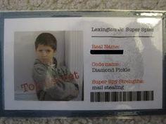 Super spy Indentification Cards
