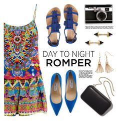 """""""Day to Night: Romper"""" by lgb321 ❤ liked on Polyvore featuring Jimmy Choo, Casetify, Katie Diamond, Clare V., Dorothy Perkins, LC Lauren Conrad, Camilla, DayToNight, romper and fashiontrend"""