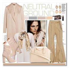 """Cool Neutrals...."" by cindy88 ❤ liked on Polyvore featuring The Row, Line, Nordstrom, Laura Mercier, Givenchy, Iris & Ink, Chanel, Ruby Rd., Lipstick Queen and neutrals"