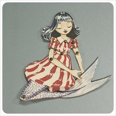 Group of: Mermaid Paper Doll Fairy Tale Art Doll Character by ...