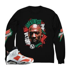 3d0eec4624a Jordan 6 gatorade long sleeve shirts match be like mike 6 shoes. Sneaker Tee  shirt to match I want to be like mike Shoes. Sneaker match shirt for