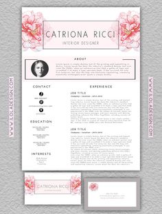 Editable ResumeCover LetterBusiness Card By Ilolasartshop