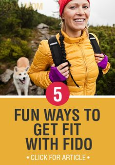 Dogs can be some of the best workout partners and they don't ever flake on you! Check out how to get fit with your pup!