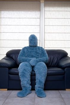 Fluffy suit best for winter! もふもふ #zentai #fullbody #suit