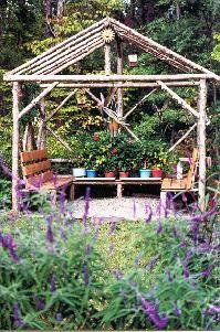 Rustic Garden Structures Pergolas
