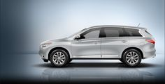 2013 Infiniti JX35 Crossover side view. Looking for a family vehicle? Look no further than Infiniti's new JX35 ;)