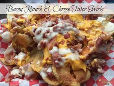 Bacon Ranch & Cheese Tator Swirls. perfect for football season! So easy to make.