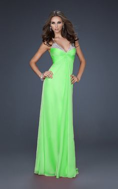 Bright lime green dress for Jennifer's second date with Slade (just a little longer)