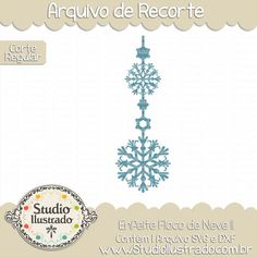 Enfeite Floco de Neve II, Enfeite, estrela, star, Floco de Neve, Ornament Snowflakes 2, Ornament, Snowflakes, Frio, Cold, Inverno, Winter, arquivo de recorte,  corte regular, regular cut, svg, dxf, png, Studio Ilustrado, Silhouette, cutting file, cutting, cricut, scan n cut.