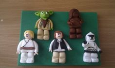 Lego Star wars fondant figures