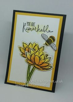 Stampin Up Remarkable You with Dragonfly Dreams. Paperjay Crafts