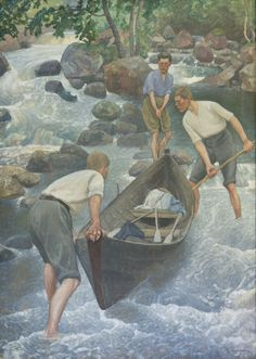 Pekka Halonen (Finnish, 1865-1933), Kesäurheilua [Summer sports], 1922. Oil on canvas. Rauman taidemuseo, Rauman.