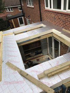Flat Roof Construction, Framing Construction, Flat Roof Systems, Roofing Systems, House Extension Design, Roof Extension, Garden Room Extensions, House Extensions, Roof Design