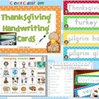 Thanksgiving Handwriting Cards Center Activity PDF file  16 pages plus a set in gray style.  This writing center activity is full of Thanksgiving v...
