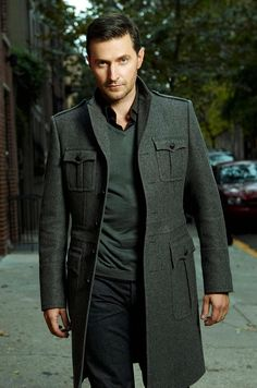 More Richard Armitage. I like this picture even more than the other one. A little scruff, that amazing jacket, that naughty look in his eyes... wait, where'd my panties go?