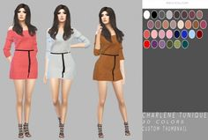 Charlene Tunique by Simply Simming for The Sims 4
