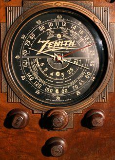 1920's Zenith radio dial | Zenith 9-S-30 Dial Views