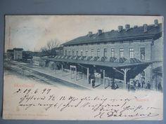 Greifswald !! Seltene, frühe Ak Bahnhof um 1899.