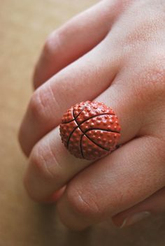 basketball ring by alliterations on Etsy, $8.00