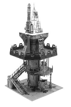 Wargaming Table, Wargaming Terrain, Game Terrain, 40k Terrain, Warhammer Dark Angels, Necromunda Gangs, Communication Tower, Concept Art Tutorial, Warhammer Terrain