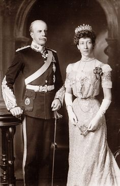 The Duke and Duchess of Fife. Early 1900s.  James Duff, the Duke of Fife, was the son of an illegitimate daughter of King William IV of Great Britian.  He married greatly above his rank HRH Louise, the Princess Royal of Great Britain.  They had a happy marriage and three children.                                                                 I