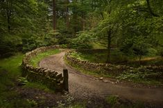 stone walls along road in Wales